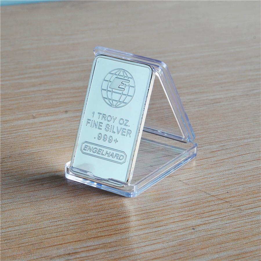 100pcs / lot liberan el envío 1 oz Engelhard barra del lingote de plata de época de DHL
