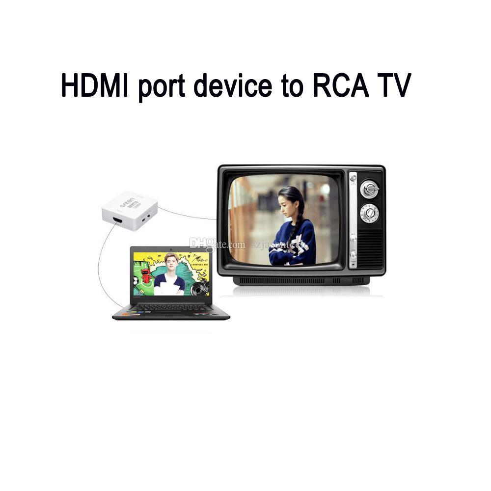 1080P HDMI to AV 3RCA CVBs Composite Video Audio Converter Adapter ...