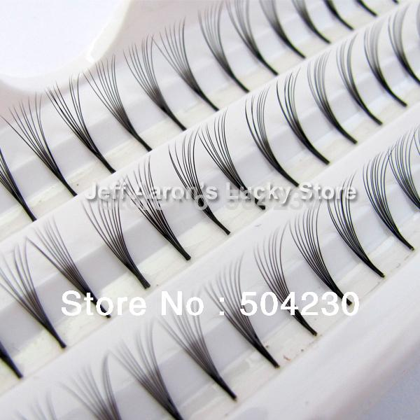 3 12mm 10mm 8mm D Lash Curl Natural Individual False Eyelashes Extension 60 Knosts Per Tray 8 Eye Lash Knot