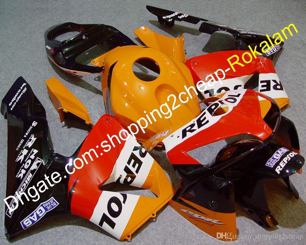 F5 CBR600RR 2005 2005 Motorbike Kit para Cuerdas de Honda CABLINGS CBR600 600RR Blanco Naranja Rojo Negro Negro Partes de Motocicleta Carnacio (moldeo por inyección)