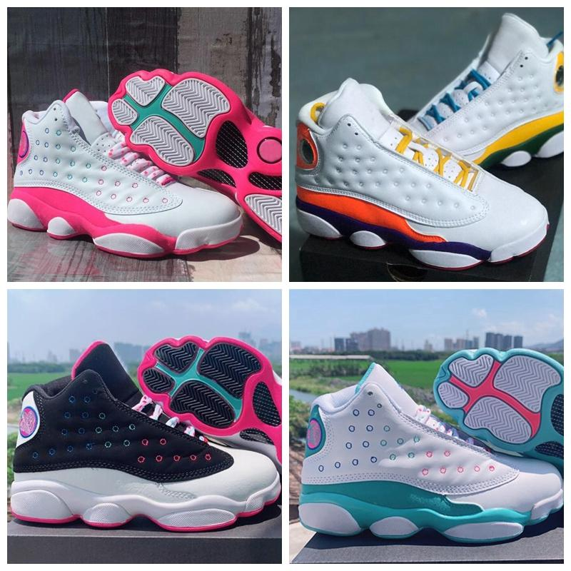 2020 New 13 GS Aurora Green 13s Playground White peach Basketball Shoes for Women Sneakers Sports Jumpman Trainers Size 36-40