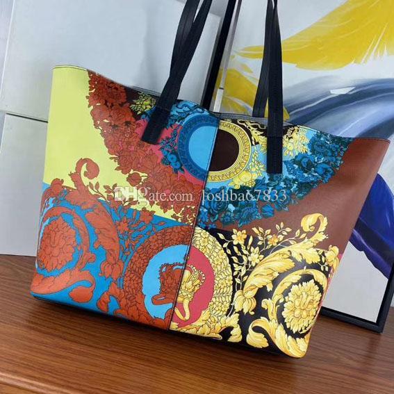 borsa del progettista di alta qualità della moda nuove donne di modo 3D stampa di borsa in pelle a grana grossa borsa capacità banchetto spesa Mommy bag