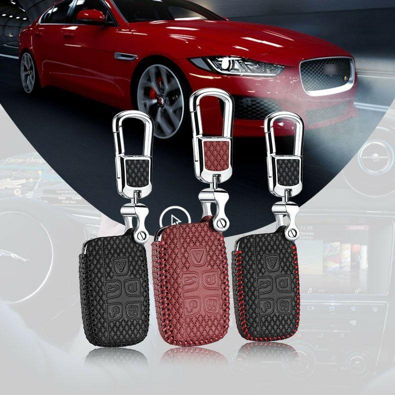 للجلود جاكوار سلسلة مفتاح السيارة الذكية عن بعد سلسلة الدخول فوب حالة تغطية