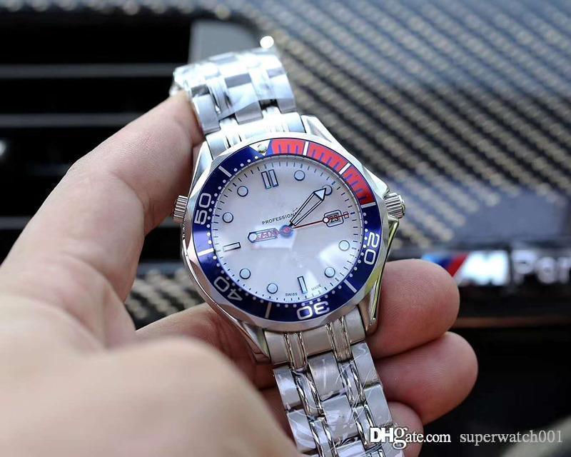 Orologio di lusso comandante di marca 007 41 millimetri orologio automatico movment Strap Canvas degli uomini di sport Mens Watchs da polso
