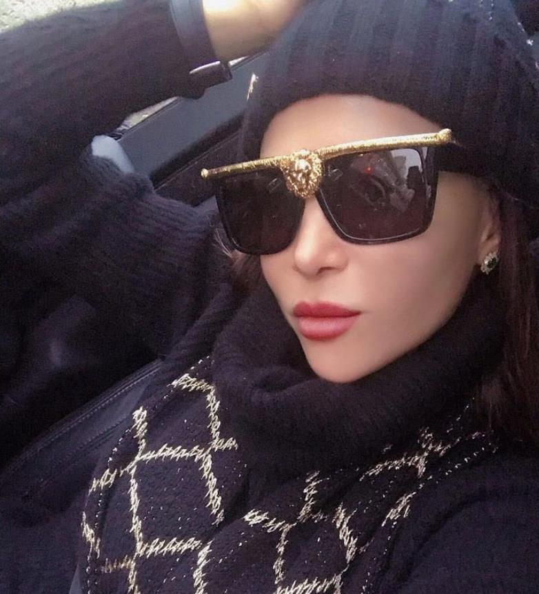 Негабаритные квадратные солнцезащитные очки Женщины Мужчины Винтаж Площадь Хип-хоп Панк Солнцезащитные Очки Металлические Дамы Модные Очки WNKME