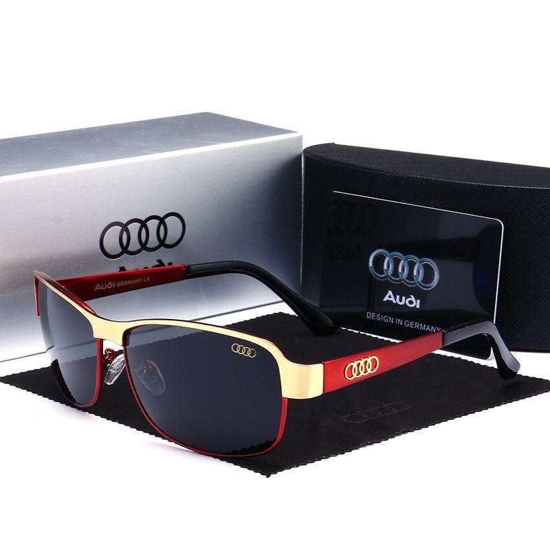 Audi polarized occhiali da sole 554 auto 4S negozio regalo all'ingrosso Audi driver dedicato occhiali da guida maschio 551