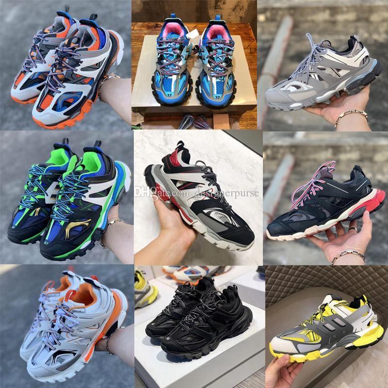 Designer Casual Triple S chaussures 3.0 Sneakers homme de luxe Souliers simple plate-forme de piste formatrices Mens Chaussures de chaussures Casual