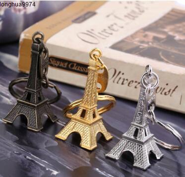 3D الفرنسية باريس ايفل تذكارية باريس برج خمر سلسلة المفاتيح سلسلة المفاتيح كيرينغ مفتاح الدائري سلسلة