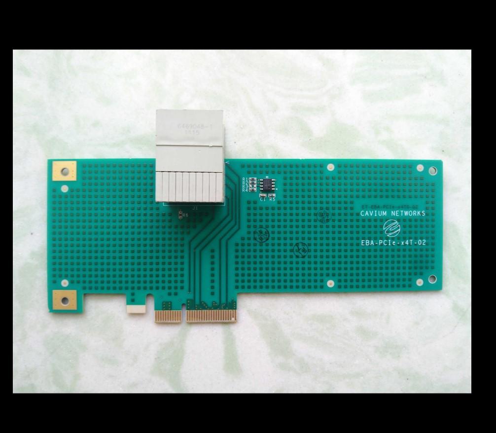 Cavium Ağlar EBA-PCIE-X4T-02 CN6000-PCIE-EP Çalışma mükemmel test% 100