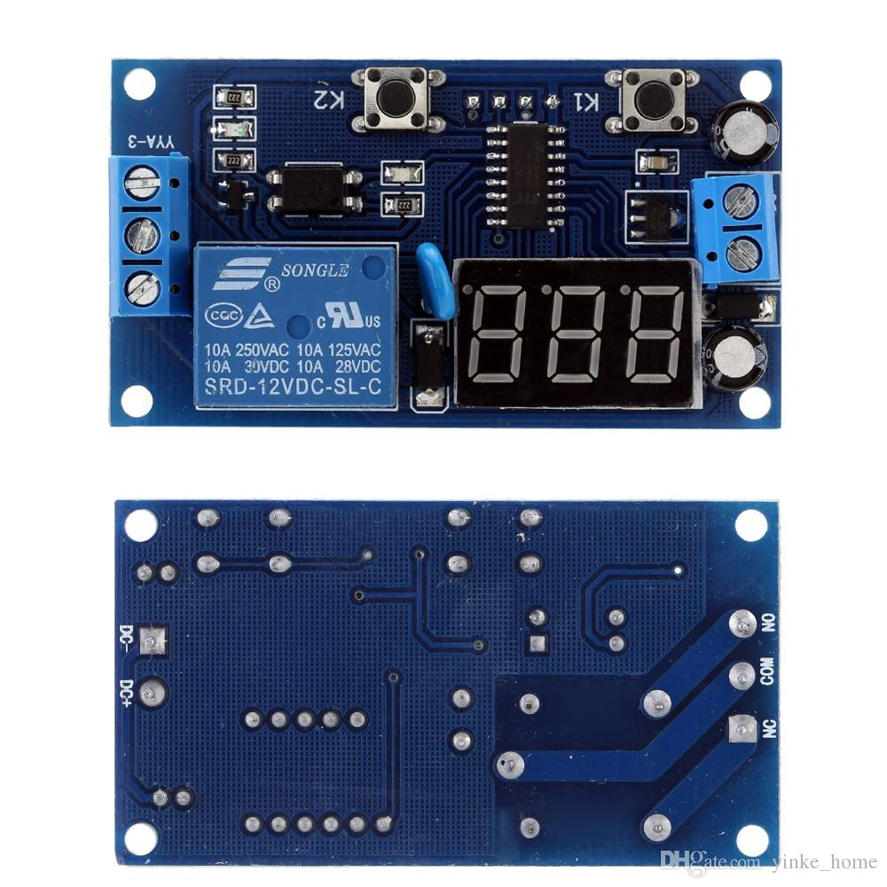 Delay Time Module Timer Relay Switch Control Clock Mode DC 12V LED Digital Display for Motor Bulb LED Light Pump