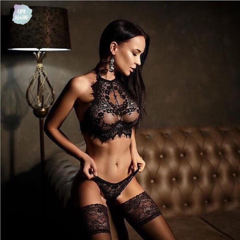 패션 핫 새로운 섹시한 레이스 브라 세트 여성 세트 여성 에로틱 한 란제리 속옷 조끼 톱 브래지어와 G 스트링