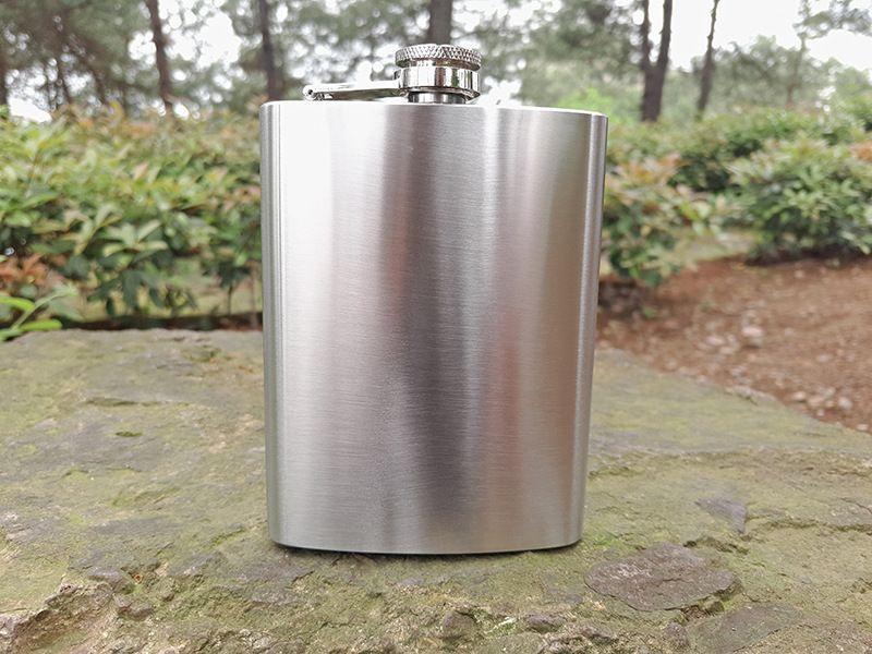 8oz Paslanmaz Çelik Hip Flask Flagon Şarap Pot Viski Stoup Açık Liman mümkün Likör Şarap Pot iyi bir hediye