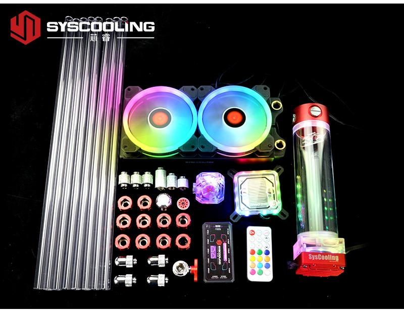 Syscooling PC liquid cooling kit for Intel CPU LGA 1151 2011 socket 240mm copper radiator RGB support