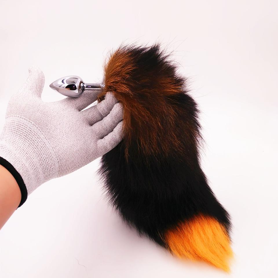 Größe Butt Fox Tails mit Metall Anal Toys C18112701 für Sex Plug Tail Erotic Cosplay 3 Stecker Neue Auswahl echt Fowgp