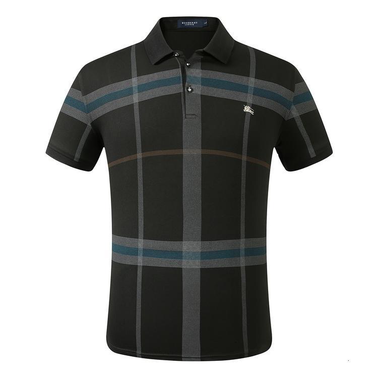 T-shirt à manches courtes hommes de haute qualité l'été 2020 mode casual vêtements de mode T-shirt col rond confortable WYD4