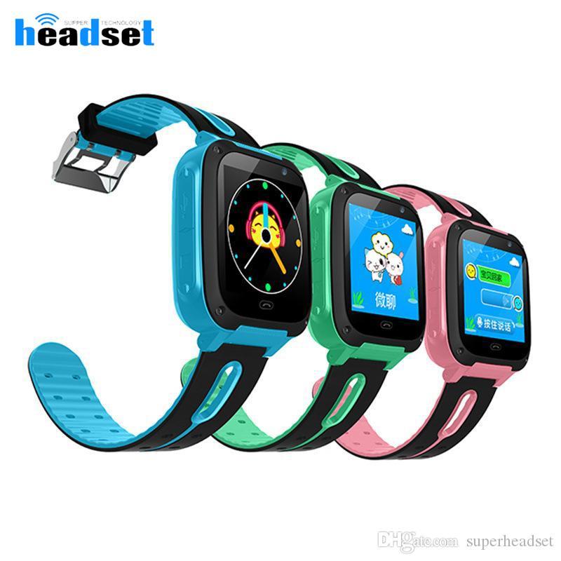 Q9 дети умных часы анти-потерянное позиционирование безопасности отслеживание одной клавиши вызова для помощи SOS непромокаемого детской SmartWatch