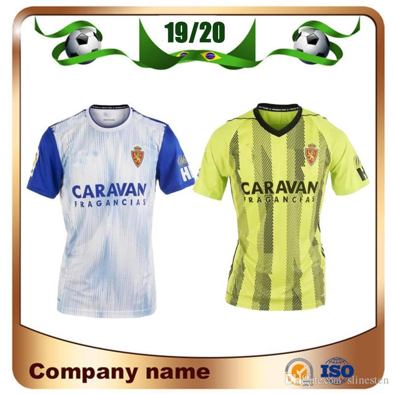 Maillot 2019 Real Zaragoza 19/20 Domicile Saragosse blanche # 21 ZAPATER Maillot de foot VAZQUEZ POMBO Saragosse Borja Iglesias Football Uniforml