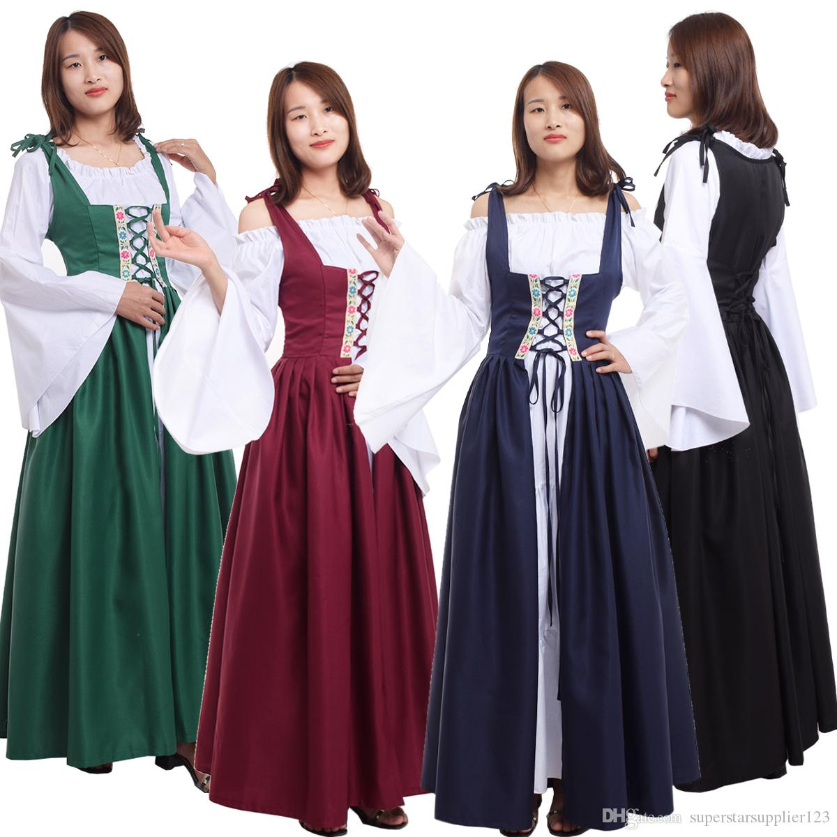 Adult Renaissance Dresses Gowns For Women Medieval Halloween Party Irish  Victorian Corset Costume Cosplay Clothes Halloween Costume Group Themes  Good Halloween Themes From Superstarsupplier123, $35.68| DHgate.Com