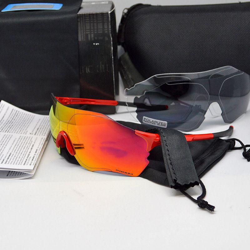 Ev صفر جديد gafas jawbreaker الدراجات نظارات نظارات 3 قطع عدسة يستقطب uv400 الدراجات نظارات شمسية دراجة رحلة سترة نظارات