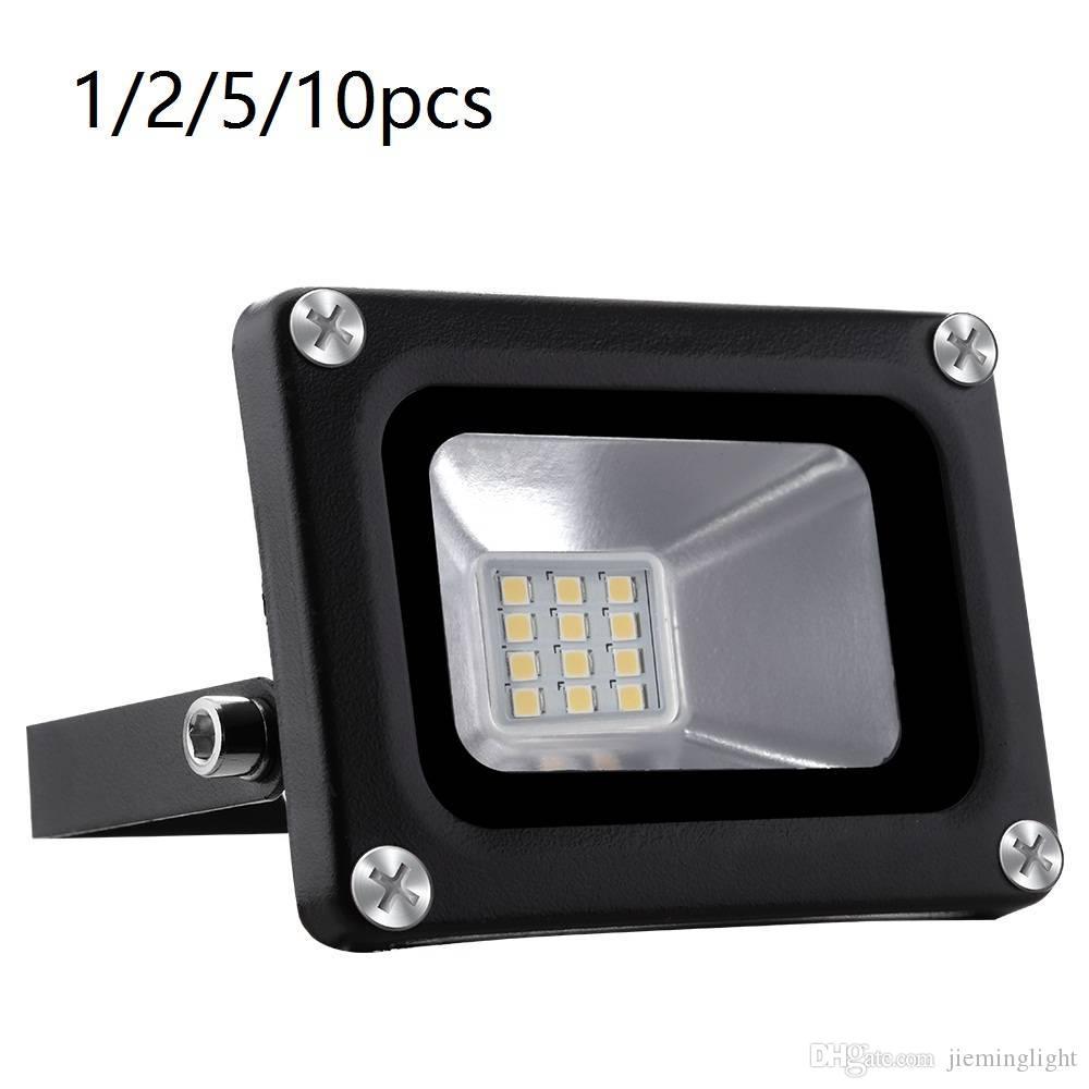 UK Stock 10W 12V Projecteur LED IP65 étanche extérieur Lumière d'inondation Super Bright Blanc Chaud Spotlight Paysage Luminaires Décoration