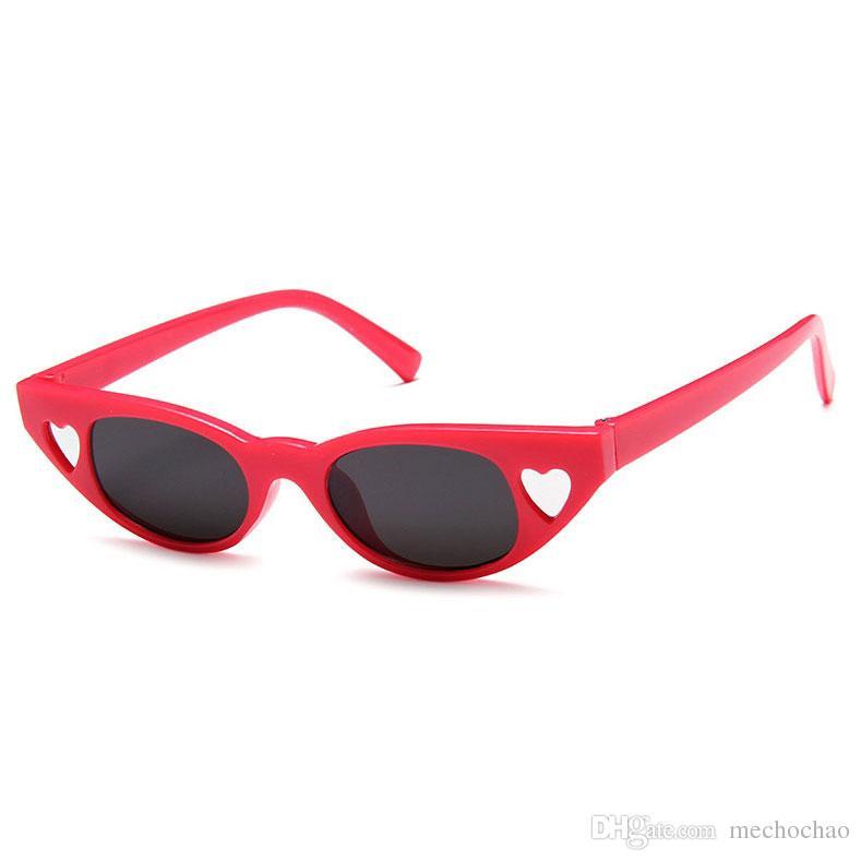 New Premium Fashion Retro Heart Sunglasses Women Love Retro Cat Eye Sunglasses Women Black White Glasses Lovers Love Sunglasses Send Box