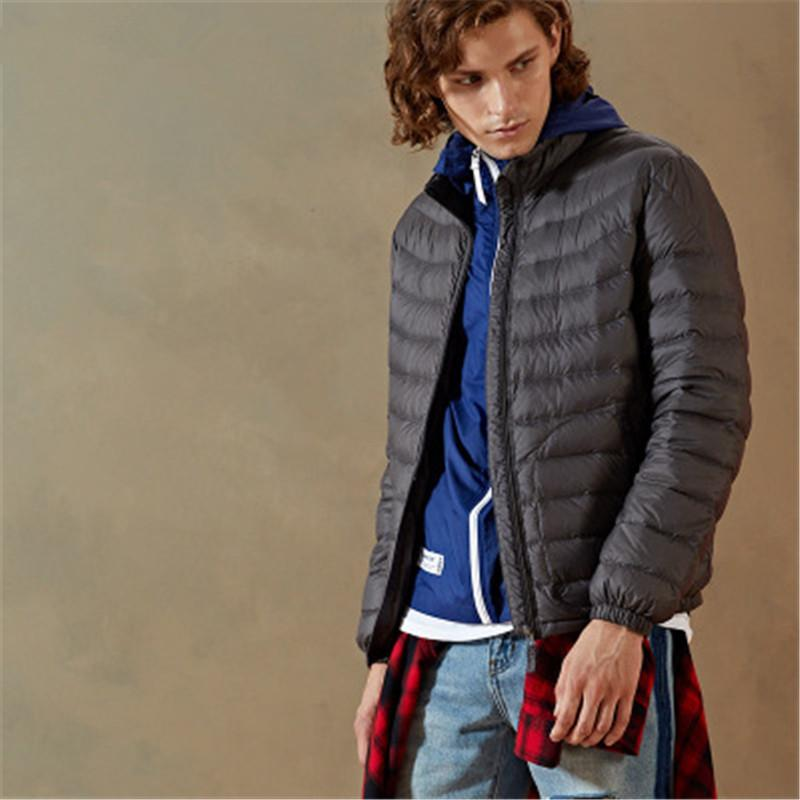 Männer Qualitäts-übersichtliches Design Down Jacket Winter Outdoor Warm Leichte Kurzmantel Dünne beiläufige Winddichtes dünne Mantel