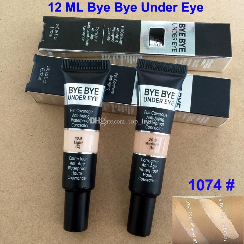 Nuova versione Bye Bye Sotto l'occhio Concealer Cream Full Coverage Eye Foundation Primer Leggero Medio 2 Ombra Trucco Concealer impermeabile