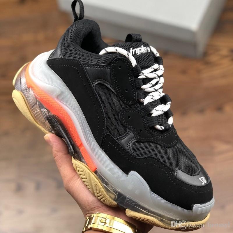 Yeni Erkek Kadın Rahat Ayakkabılar Üçlü-S Tasarımcı Trainer Casusl Sneakers Retro Düşük Üst Düz Ayakkabı Yeni Renk Stil Tasarımcı Ayakkabı Satışa 36-45