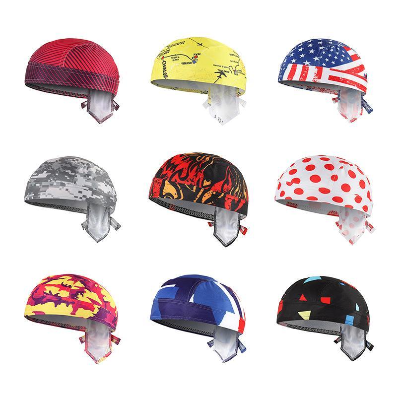 Casquettes de cyclisme Masques 16 Couleurs Hommes Femmes Pirate Cap Bandanas Écran Soleil Écroite Capuche Écharpe Extérieur Respirant Vélo Vélo Chapeau de vélo