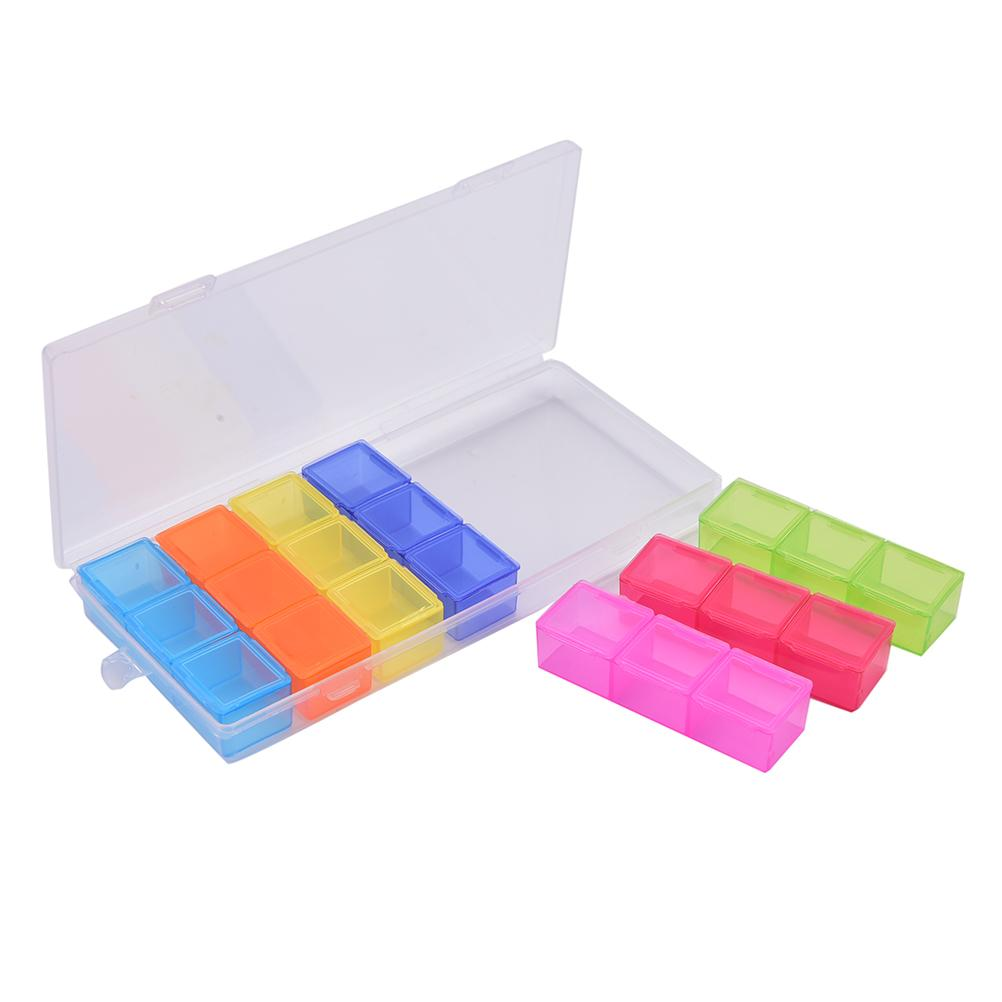 Mini Portable 3 Row 21 Squares Weekly Holder Pill Box 7 Days Tablet Medicine Storage Organizer Container Case fast shipping