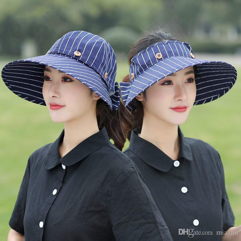 Kadınlar Güneş Şapka Geniş Ağız Şapka Büyük Kapaklar Moda Kap Plaj Yaz Güneş Şapka