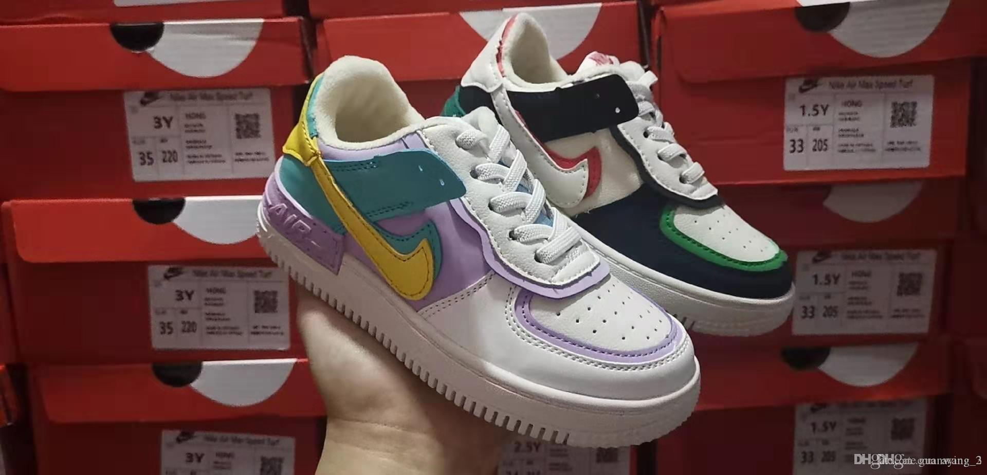 sapatos casuais novos macarons marca infantis dupla desconstrução costura ovo doces 26--35
