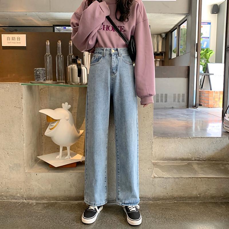 Orchid Серых прямых джинсы Женщины Сыпучей Редька Мода