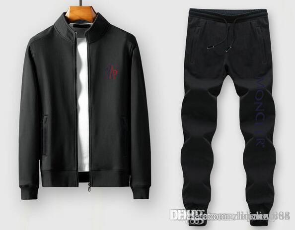 Uomini Sportswear con cappuccio e felpe nero Autunno Inverno Jogger sportive Mens tuta Tute Tute Set Plus Size M-3XL # 0012