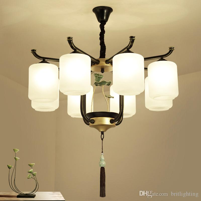 Modern new Chinese chandelier living room Pendant Lamps atmosphere classical chandelier study Room bedroom dining room chandelier lighting