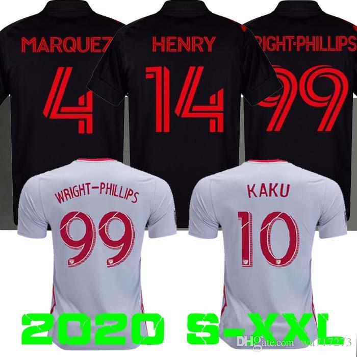 2010 2020 قميص نيويورك ريد لكرة القدم جيرسي ايفان 19 20 رايت فيليبس كرة القدم جيرسي روير KAKU طويل لكرة القدم جيرسي