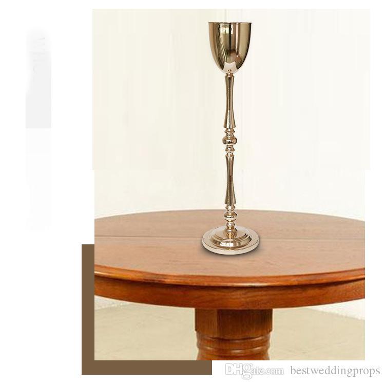 Nouveau style haut piliers en gros table top décoratif mariage pièce maîtresse or pour la décoration de fête best889