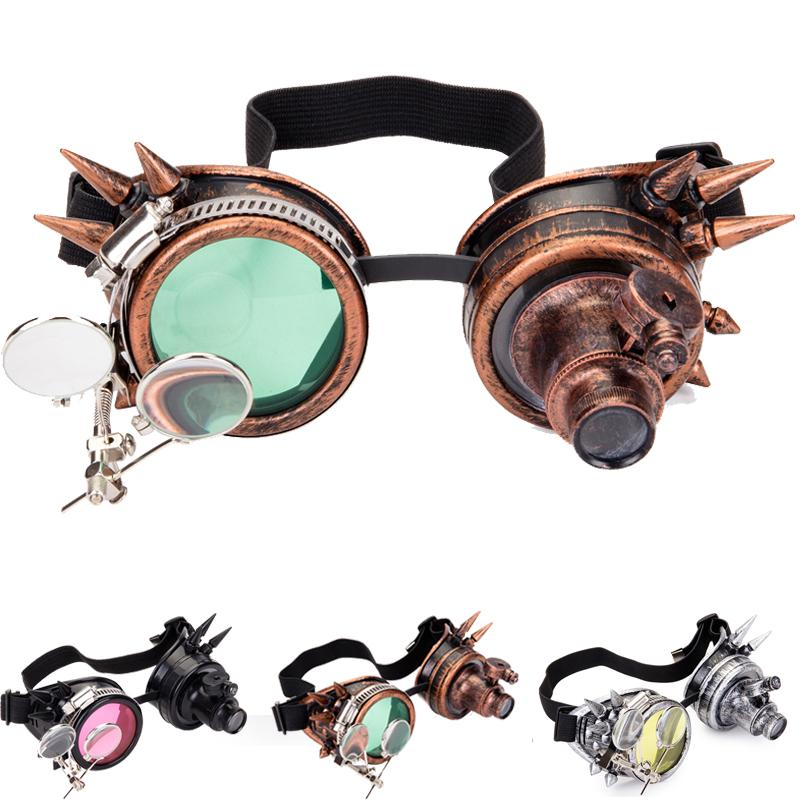 FLORATA Cosplay Vintage viktorianische Rivet Steampunk Brille Gläser Schweißen Cyber Gothic FreeshippingWholesale