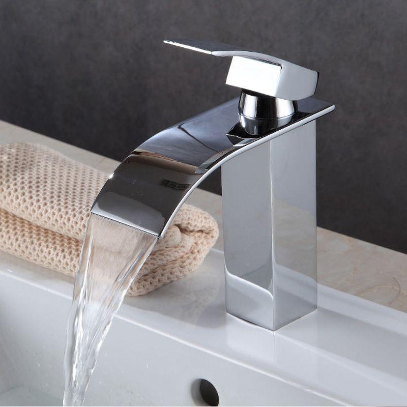 All-Copper Hotel Torneiras do banheiro lavar torneira Cachoeira Outdoor Garden Rosto torneira água quente e fria mão para o banheiro pias bacia cerâmica