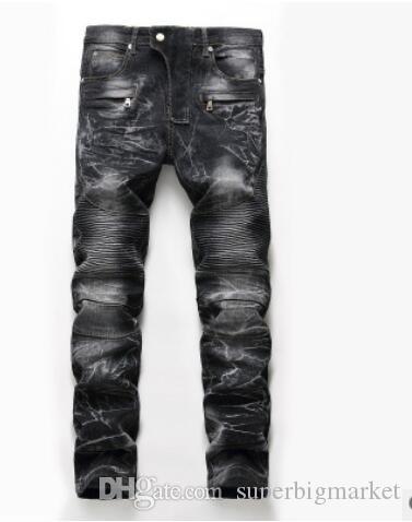 2019 nouvelle arrivée! Locomotive nostalgique du commerce extérieur des hommes européens et américains personnalité pantalon jeans ..