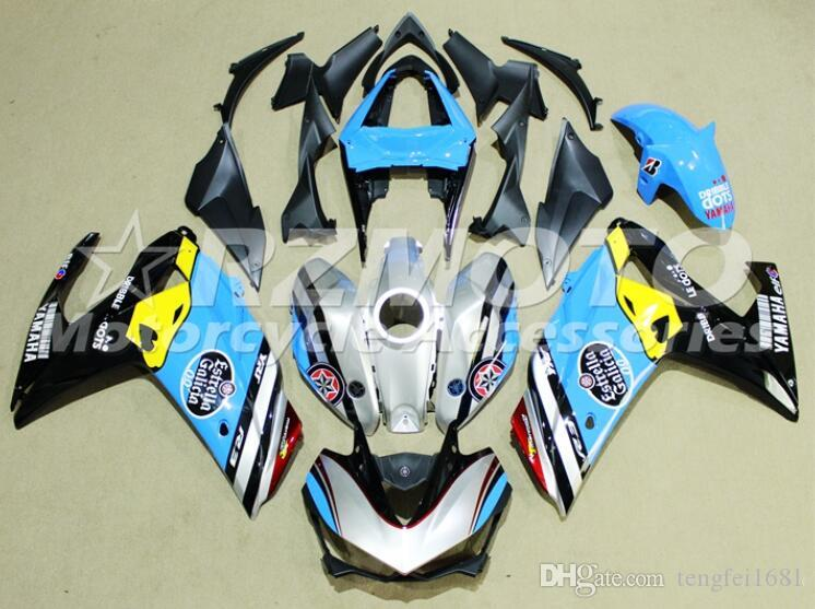 Hot sales New ABS Motorcycle Fairing Kit For YAMAHA R3 R25 2014 2015 2016 2017 2018 2019 motorcycle Cowling Custom Sky Blue