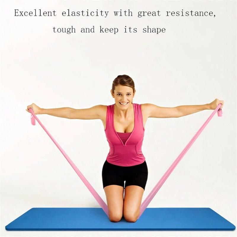 Yoga Pilates extensible Les bandes de résistance d'exercice Pilates Yoga entraînement aérobie Physio élastique pour la gymnastique extensible