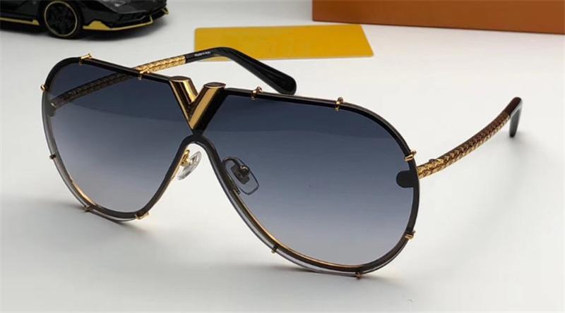 novo designer de moda estilo pilotos eyewear 0897 sem moldura reflexivo revestimento requintados proteção anti-UV ourdoor uv400 óculos de sol