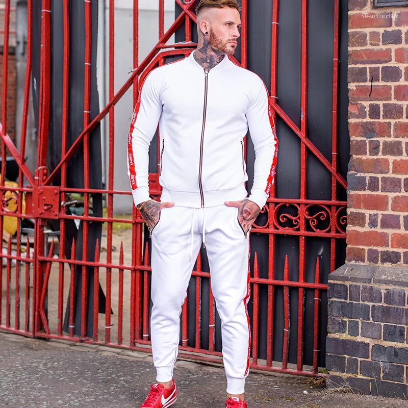 Casual Ropa Primavera Carta informal chándales impresión de la moda del color sólido estilo deportivo Homme ropa de moda de lujo para hombre de la gimnasia