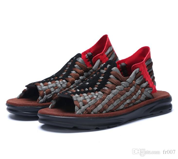Men Casual Sandali donna estate scarpe sandalo Mens Sandles esterna traspirante Comfort slip on Taglie scarpe aperte Sandalias Hombre