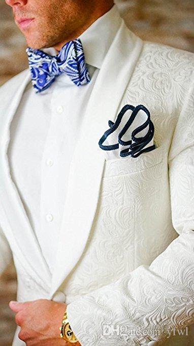 Smoking goffratura alla moda sposo abiti da sposa uomo abiti da sposa uomo smoking costumi de smoking pour hommes uomini (Jacket + Pants + Tie) 071