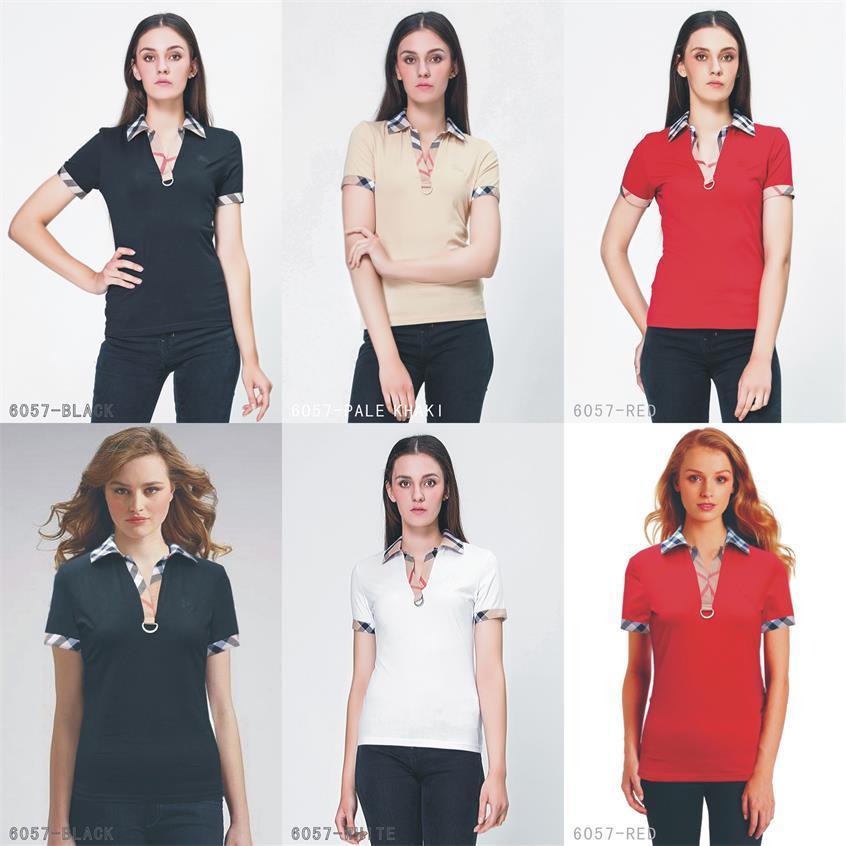 Las nuevas señoras de la marca del Reino Unido camisa del verano del diseñador Camiseta de Mujer de la camisa del estilo ocasional del algodón camiseta de manga corta T-camisa del tamaño s-xxl # A09
