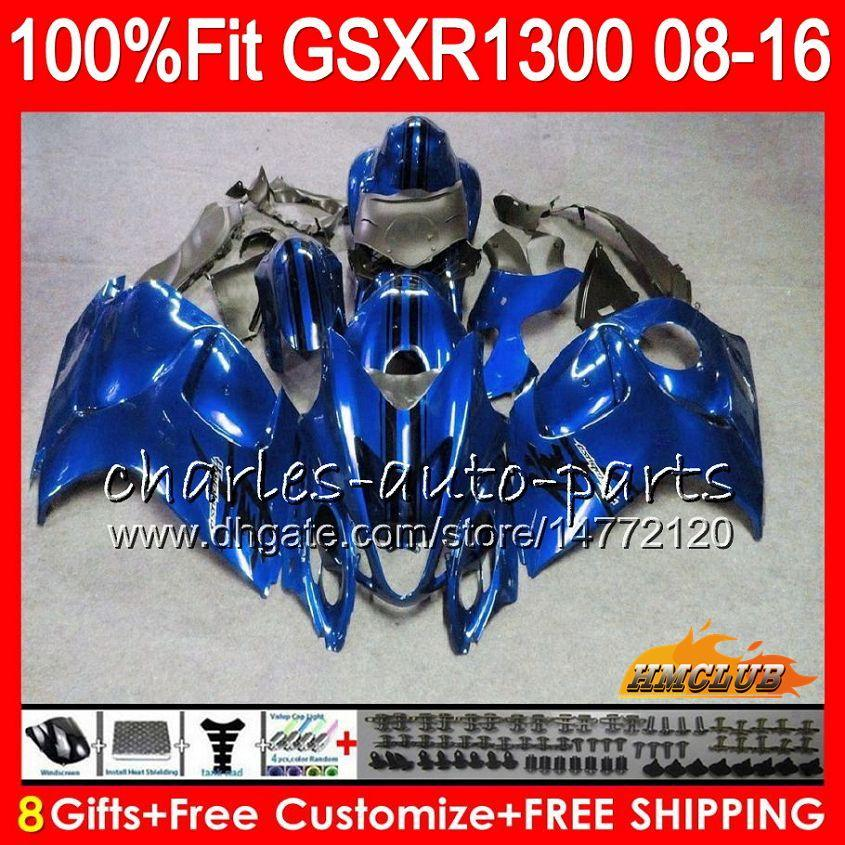 Injectie voor Suzuki GSXR1300 Hayabusa 08 09 Dark Blue Hot 10 2009 2009 2010 25HC.78 GSXR 1300 GSXR-1300 11 12 13 2011 2012 2013 OEM FACKING