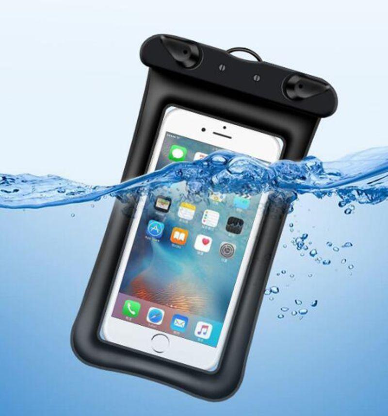 العالمي تعويم وسادة هوائية للماء السباحة حقيبة الهاتف المحمول حالة تغطية الجافة الحقيبة الغوص الانجراف يمتد الرحلات أكياس ل فون xs ماكس s10