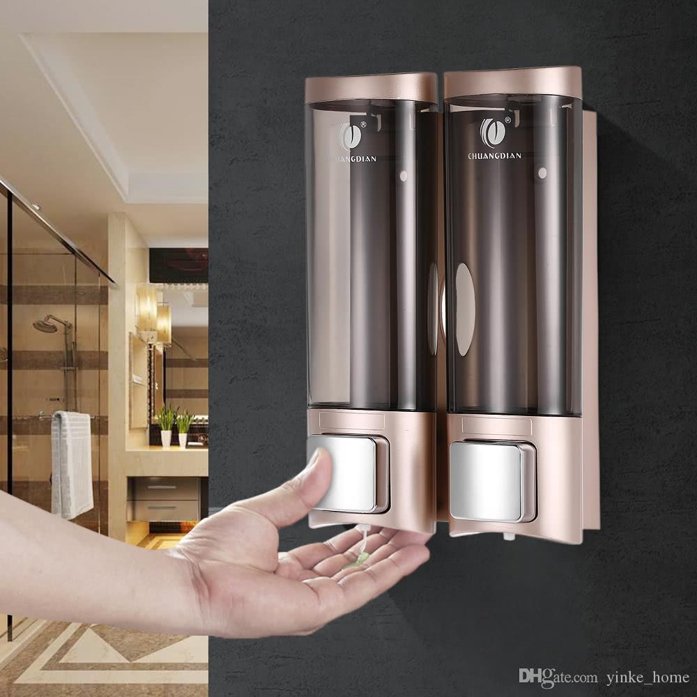 주방 욕실 화장실에 200ml의 자동 액체 비누 디스펜서 벽 마운트 소독제 로션 거품 샴푸 샤워 젤 저장 병